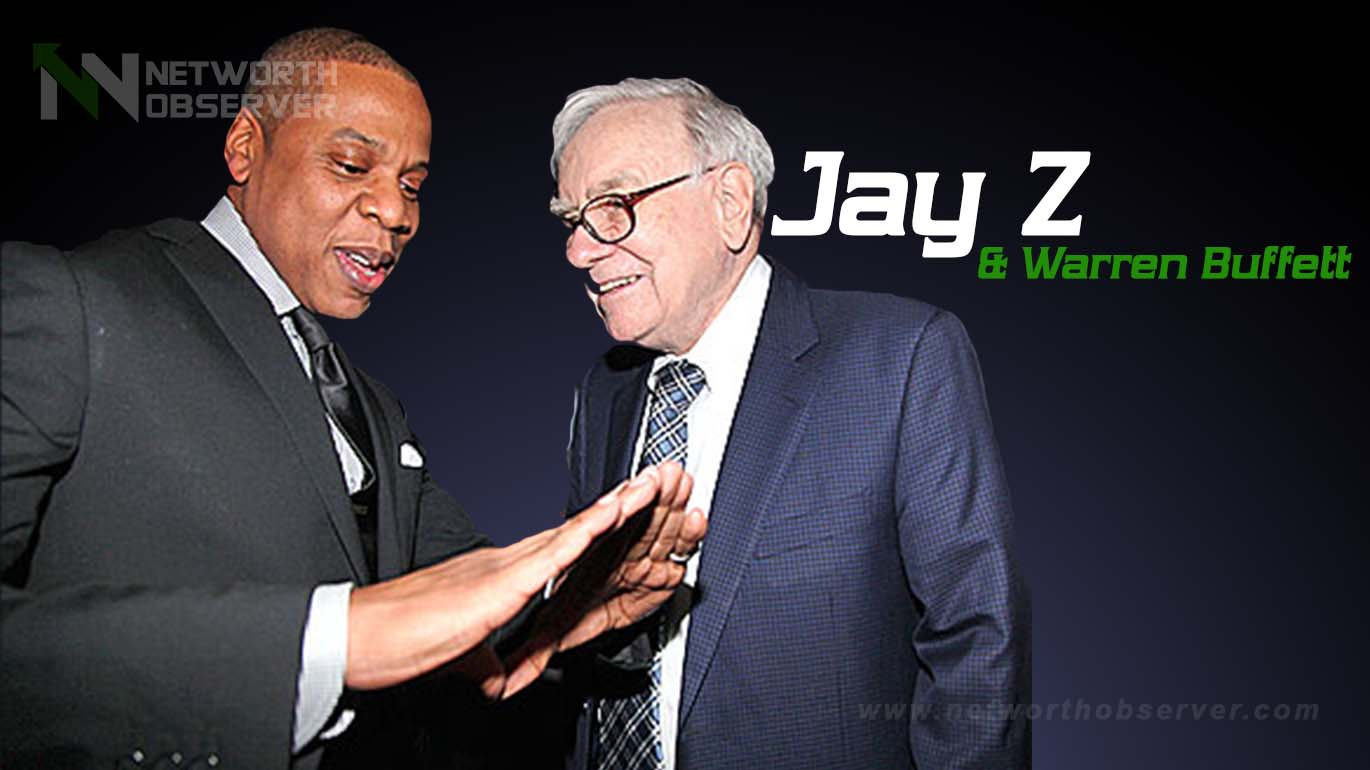 Photo of Jay Z and Warren Buffet